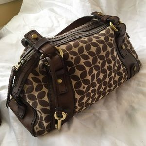 Fossil Large Brown Signature Satchel